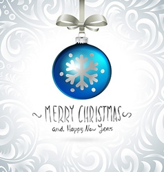 Christmas ball christmas tree decorations vector