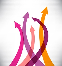 Success arrows vector