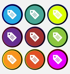Web stickers tags and banners icon sign nine multi vector