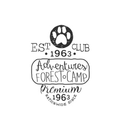 Premium adventure club vintage emblem vector