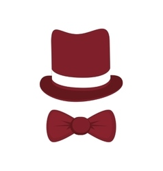 Classic hat with bowtie vector