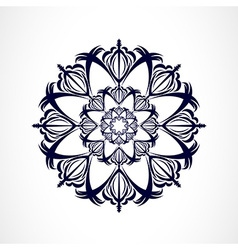 Abstract dark ornament vector image vector image