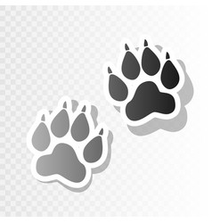 Animal tracks sign new year blackish icon vector