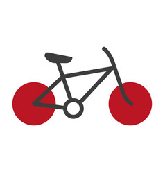 Bicycle silhouette isolated on white logo vector
