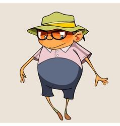cartoon funny pot bellied man vector image