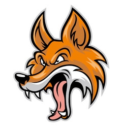 cartoon of bad fox vector image vector image