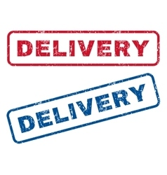 Delivery rubber stamps vector