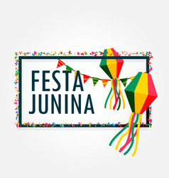 Festa junina celebration background holiday vector