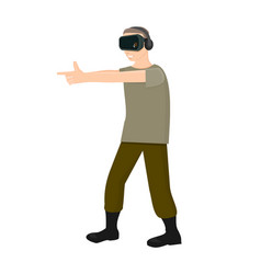 fingers shooting in virtual reality vector image