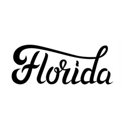 Florida hand lettering vector