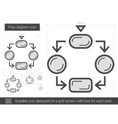 Flow diagram line icon vector