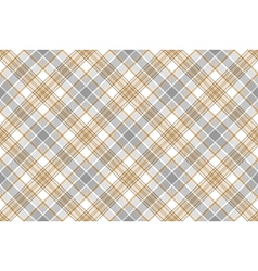 Gold silver check fabric seamless background vector