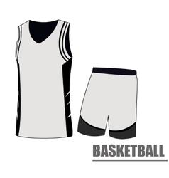 Isolated basketball uniform vector