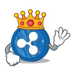 King ripple coin character cartoon vector