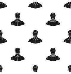 Lumberjack icon in black style isolated on white vector