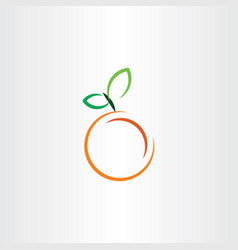 Orange icon fruit sign vector