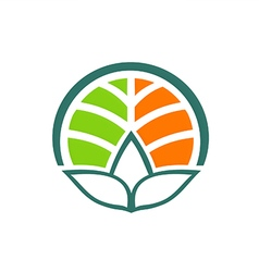 Plant school botany eco environment logo vector