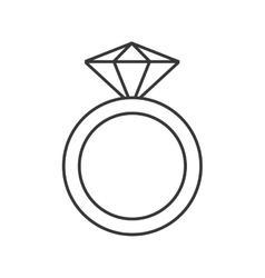 ring with precious stone icon vector image vector image