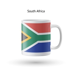 South africa flag souvenir mug on white background vector
