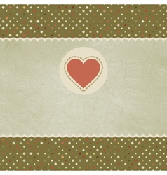 Vintage Valentines Heart Card vector image vector image