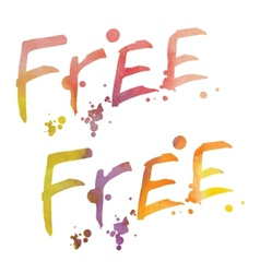 Watercolor lettering free vector