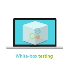 white box testing software application development vector image