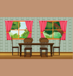 Colorful dining room vector