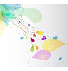 Abstract colored with flower petals and place for vector