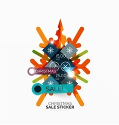 Shiny holiday new year and christmas sale banners vector