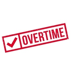 Overtime rubber stamp vector