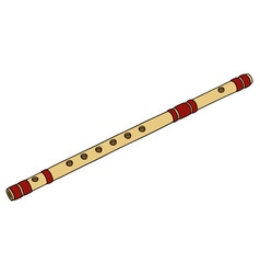 Classic bamboo flute vector