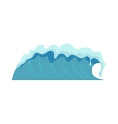 Water waves isolated vector