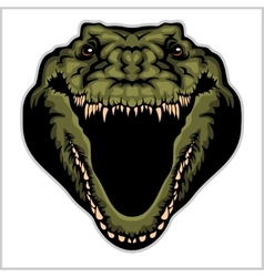 Angry alligator mascot vector