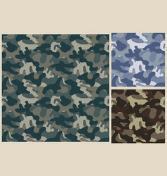 khaki seamless pattern camouflage texture vector image