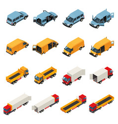 freight transportation vehicles collection vector image