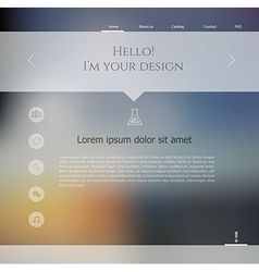Blurred web design template vector