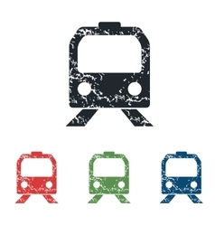 Train face grunge icon set vector