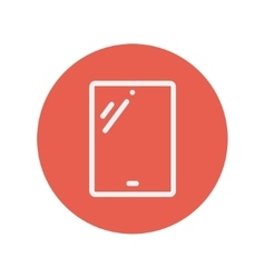 Tablet thin line icon vector