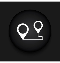 Modern map pointer black circle icon vector