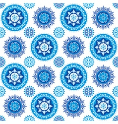 Blue and white seamless background with decorative vector