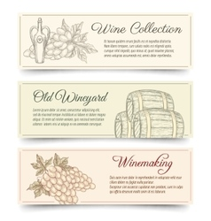 Wine and wine making banners vector