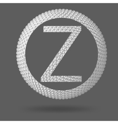 The letter z polygonal letter abstract creative vector