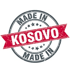 Made in kosovo red round vintage stamp vector