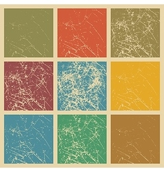 Set of scratched vintage grunge background vector