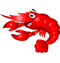shrimp cartoon vector image