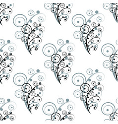 abstract seamless flower elements vector image