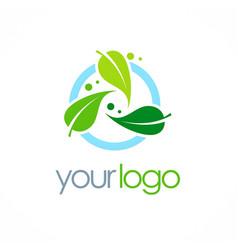 Bio organic logo vector