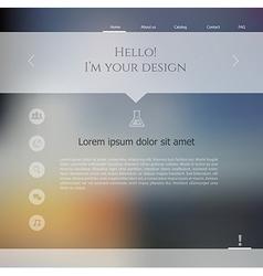 Blurred web design template vector