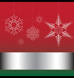 Christmas card red and green vector image vector image