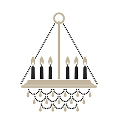 Crystal candle chandelier vector